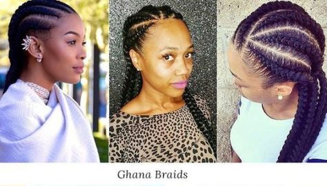 #blackout - different hairstyles | Ghana braids