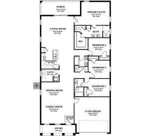 House Plan 3978 00102 Florida Plan 2 296 Square Feet 4 Bedrooms 3 Bathrooms Floor Plans Florida House Plans Floor Plan Drawing