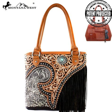 MW379G-8014 Montana West Fringe Collection Concealed Handgun Tote-Coffee  #western #momtanawest #west #handbaloverusa #rustic #rusty #country #purse #countrygirl #cattle #american #cowgirl #texas #texan #USA #cowgirl #cattle #countryside #countrylife #gun #guncarry #aztec