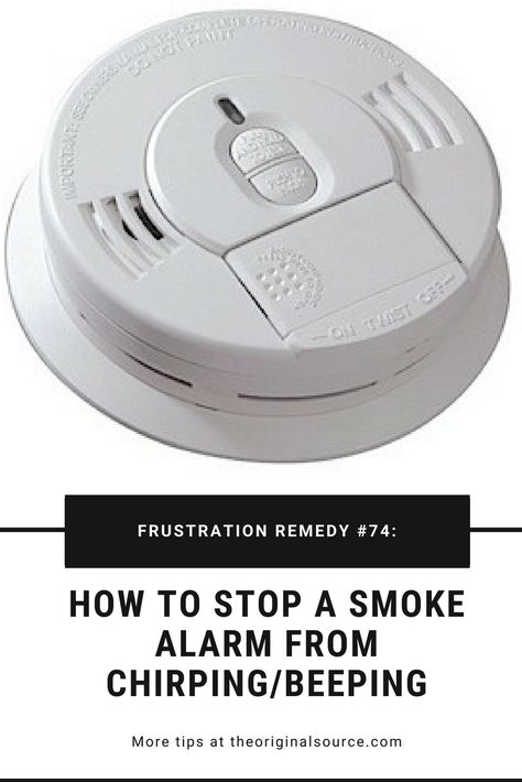 How To Stop A Smoke Alarm From Chirping Beeping Great Tips To Save Smoke Alarms Smoke Alarm