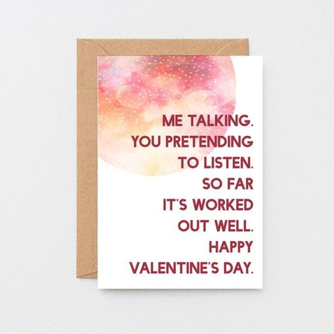 Funny Valentine Card For Husband | Funny Valentine Card For Wife | Funny Card For Partner | Valentines Card For Boyfriend | SEV0021A6