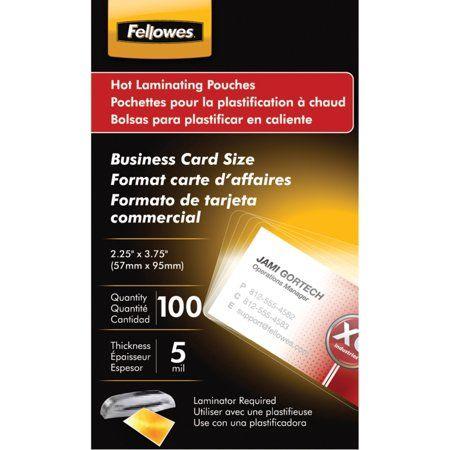 Glossy Pouches Business Card 5 Mil 100 Pack Walmart Com Carte D Affaire Plastifieuse Carte