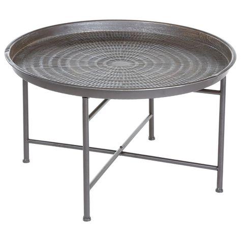Cette Jolie Table A Cafe Instant Naturel Est Brute Et Simple Un Style Industriel Qui Convient Parfaitement A Une Dec Table Cafe Table Basse Ronde Table Basse