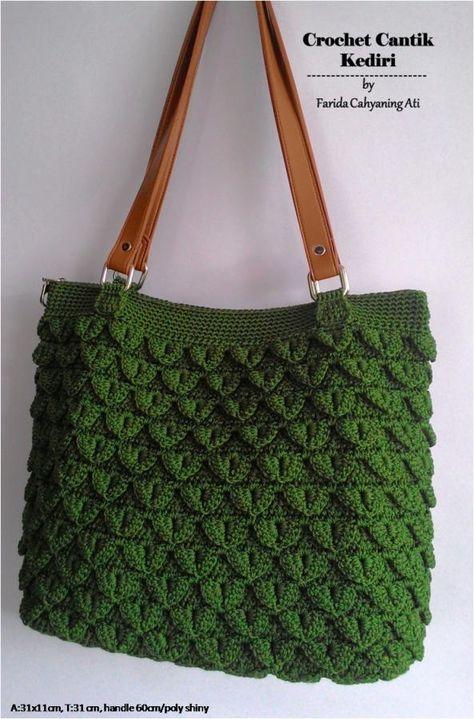 Crocodile stitch tote bag by Farida Cahyaning Ati More 41d89d527cc77