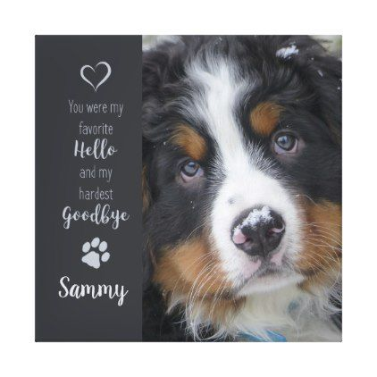 Pet Photo Memorial Add Your Photo Dog Photo Canvas Print