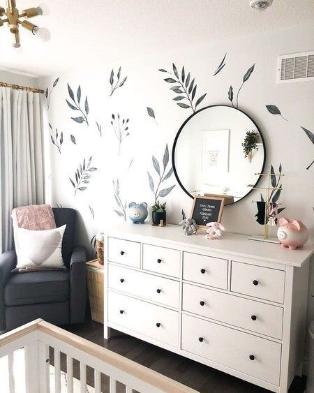 Need an easy DIY to spruce up the nursery? These decals are easy to install, are gender neutral and work for any style nursery! Nursery Twins, Baby Nursery Decor, Project Nursery, Baby Decor, Wall Decals For Nursery, Baby Nursery Neutral, Nursery Ideas, Accent Wall Nursery, Calming Nursery