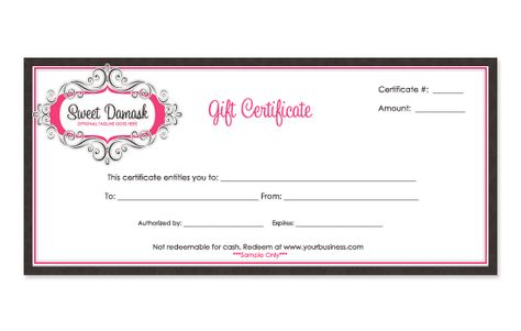 Free printable personalized gift certificates Helpful Pinterest - new microsoft gift certificate template