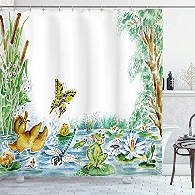 Amazon Com Ambesonne Kids Shower Curtain By Butterfly Duckling