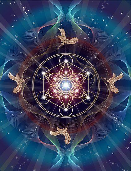 Poster Cubo De Metatron Merkabah Paz Y Equilibrio De Art By Angels Sacred Geometry Art Sacred Geometry Spiritual Art Cubo de metatron wallpaper hd