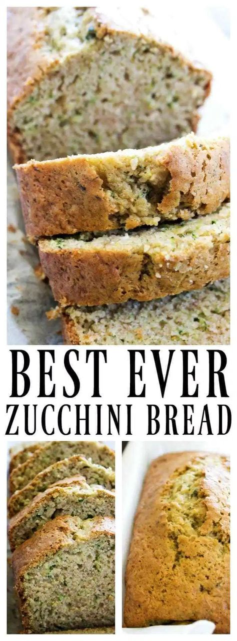 This zucchini bread recipe is made with fresh zucchini making it amazingly moist. This zucchini bread recipe is made with fresh zucchini making it amazingly moist. This zucchini bread recipe is made with fresh zucchini making it amazingly moist. Best Zucchini Bread, Zucchini Bread Recipes, Easy Bread Recipes, Baking Recipes, Dessert Recipes, Recipe For Zucchini Bread, Zucchini Bread Muffins, Pudding Recipes, Zucchini Loaf