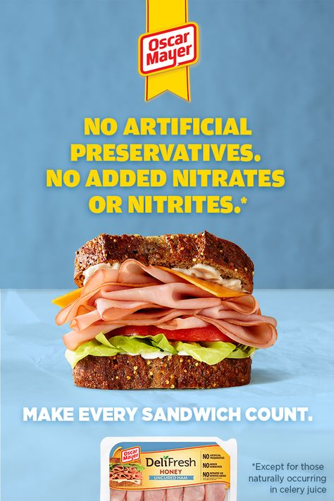 tired of the same old lunches make every sandwich count with oscar mayer de