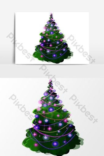 Hand Drawn Christmas Tree Element Design Cartoon Png Images Ai Free Download Pikbest Christmas Design Christmas Tree Design