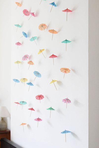 Diy Decor How To Make A Paper Umbrella Garland Diy Party Tiki Party Umbrella Decorations