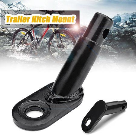 Steel Bicycle Trailer Rear Replacement Axle Hitch Mount Adapter Replacement Axle