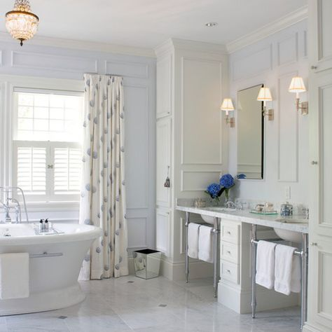 Master Bathroom Pedistal Sinks Design Ideas, Pictures, Remodel, and Decor - page 6