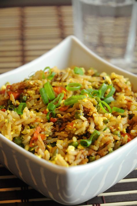 """Best Ever Vegan Fried Rice with Scrambled Tofu - This dish turned out remarkable. Even my husband, who only groans like crazy when his food is MEGA GOOD, couldn't keep his mouth shut about it. """"You HAVE to blog this"""", he said. """"You HAVE TO. It's SO GOOD."""" And so, here I am. Blogging it."""