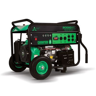 Buy Champion 5000 / 6000 Watt Portable LPG Generator, Electric Start, CARB Compliant at Woodcraft.com