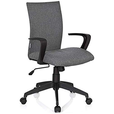 Hjh Office 723040 Chaise De Bureau Siege Pivotant Soft Gris Au Design Futuriste Avec Accoudoirs Mecanisme De Basculement Dossier Moyen Avec Images Chaise Bureau Chaise