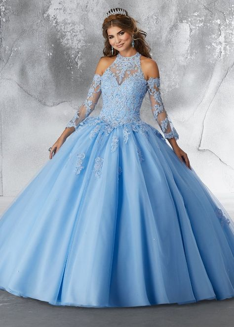 8391f85a722 Bell Sleeved Lace Quinceanera Dress by Mori Lee Vizcaya 89192 – ABC Fashion