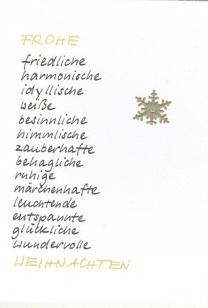 Weihnachtskarte Schneeflocke von Kartenfreude auf DaWanda.com