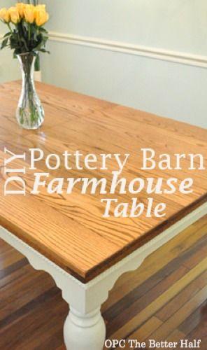 Pb Knock Off Farmhouse Style Table Farmhouse Table Farmhouse