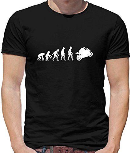 T-shirt Evolution of Man - motif super motard - homme - 10 coloris  disponibles - Noir - M   T shirt, Shirts, Mens tshirts