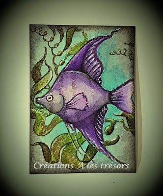 Atc Poisson D Avril Cartes D Automne Scrapbook