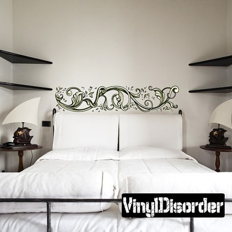 Floral Frame Wall Decal Wall Fabric Vinyl Decal by VinylDisorder ...