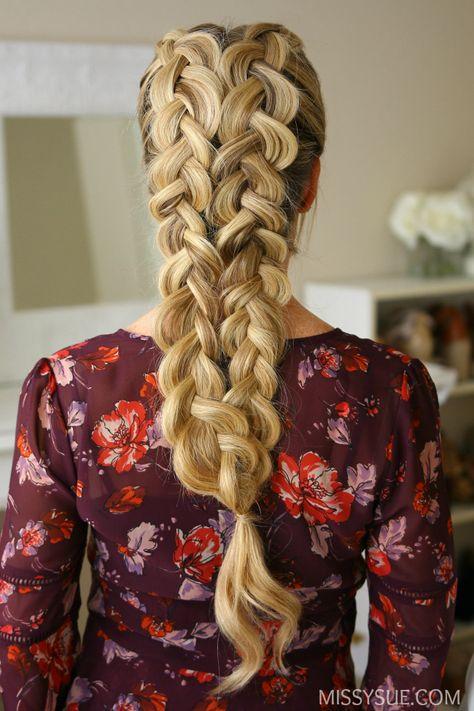 double-dutch-braids-hairstyle-tutorial #braidedhairstylesart # tight dutch Braids # tight dutch Braids