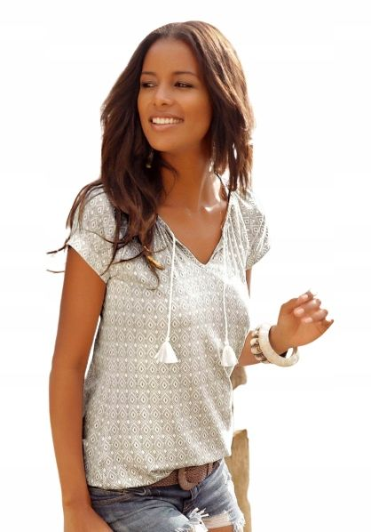 Letnia Bluzka Damska T Shirt Z Fredzlami Xl Fall Outfits Outfits Fashion