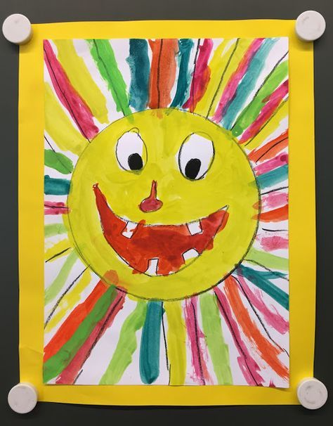 Colorful And Fun Sun As A Summer Art Project Art Projects