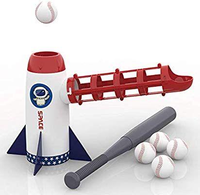 Amazon Com Iplay Ilearn Backyard Baseball Pitching Machine Toys Training Sport Set Outdoor Pitcher T Pitching Machine Backyard Baseball Baseball Pitching