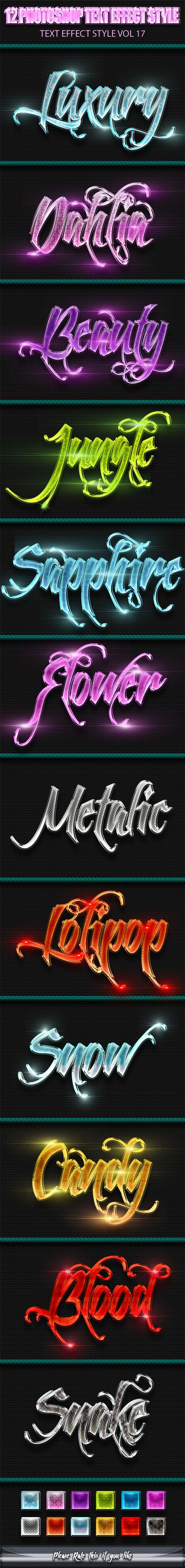 12 Photoshop Text Effect Styles Vol 17