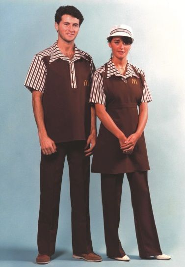 Past Jobs Bipolar Barb Jobs Mcdonalds Tempagency Temping Telemarketer Waiter Uniform Clothes Fashion