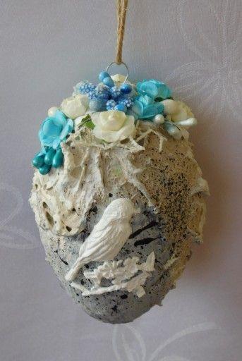 Pisanka Mix Media Zawieszka Ozdoby Wielkanocne 7826256240 Oficjalne Archiwum Allegro Easter Crafts Easter Eggs Egg Decorating