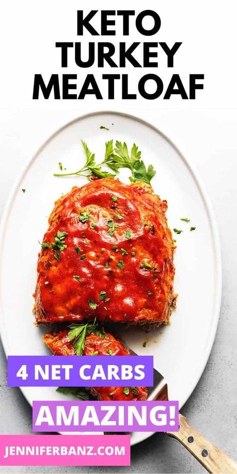 Keto Turkey Meatloaf • Low Carb with Jennifer