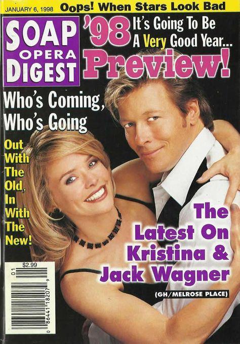 Kristina Wagner (Felicia #GH) & Jack Wagner (Peter #MelrosePlace) 1/6/98 http://classicsodcovers.tumblr.com/ pic.twitter.com/ou8aRQLIRj