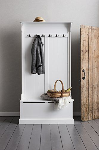 Brittany Hallway Bench And Coat Hook Shoe Storage In White Noa Nani Hallway Storage Bench Hallway Shoe Storage Hallway Storage