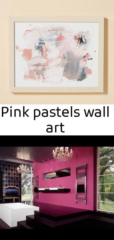 Pink pastels wall art