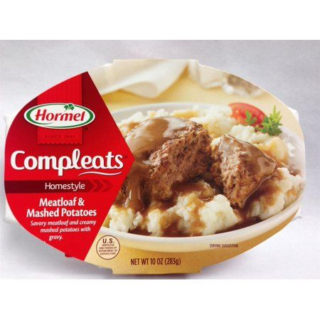 Buy Hormel Compleats Meatloaf Mashed Potatoes At Walmart Com Mashed Potatoes Food Creamy Mashed Potatoes