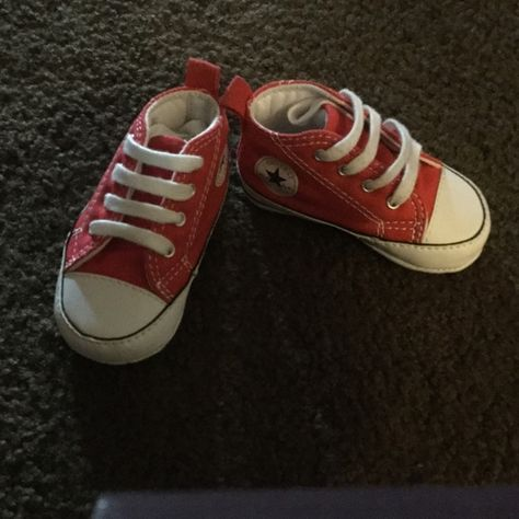 5667c9627fdf Red Infant Converses