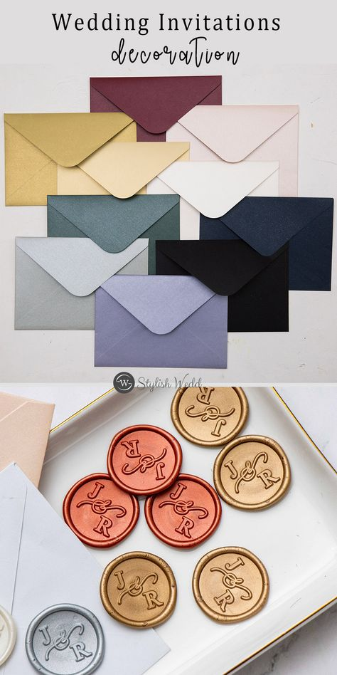 shop colorful matched envelopes & wax seals for your wedding invitations #wedding#weddinginvitations#stylishwedd#stylishweddinvitations #vellumweddinginvitations#weddingideas