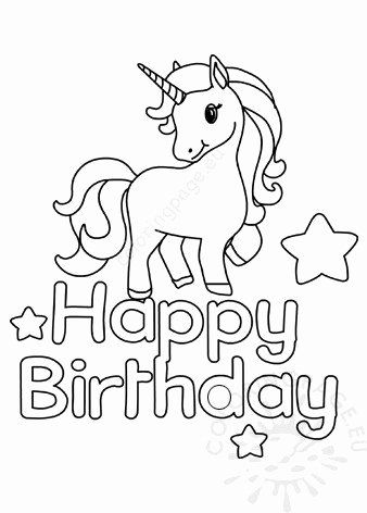 4th Birthday Coloring Pages Fresh Printable Unicorn Happy Birthday Coloring Page