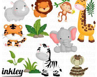 Baby Animal Clipart Baby Animal Clip Art Baby Jungle Animals Clipart Baby Shower Clipart Animal Clipart Baby Jungle Animals Baby Clip Art