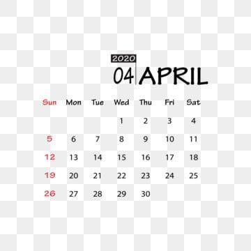 أبريل 2020 Clipart ناقلات بابوا نيو غينيا عنصر التصميم تقويم جديد 2020 التقويم العام الجديد Png والمتجهات للتحميل مجانا Illustration Calendar Calendar Text Effects