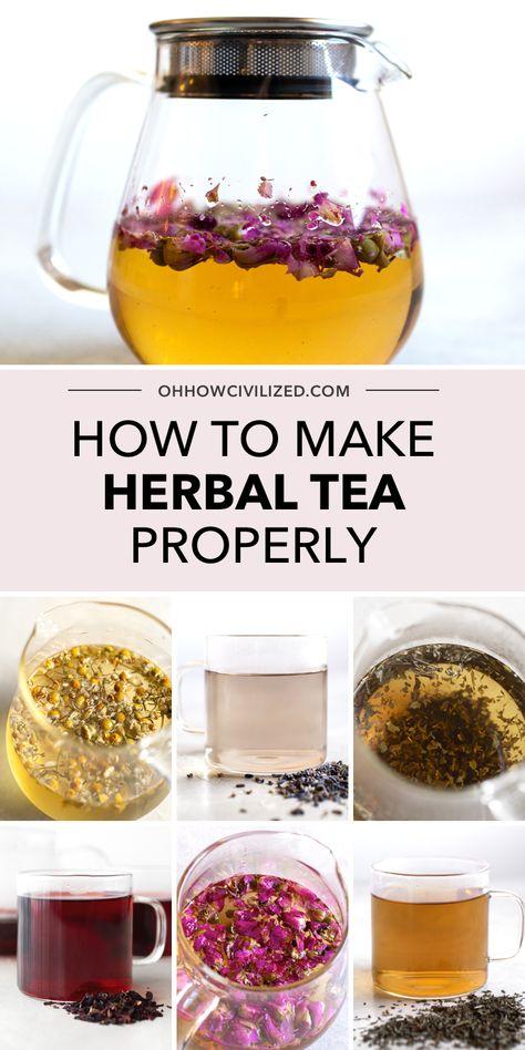 How to Make Herbal Tea tea benefits tea blends tea garden tea photography tea recipes Kombucha, Herbal Tea Benefits, Herbal Teas, Best Herbal Tea, Homemade Tea, Tea Blends, How To Make Tea, Tea Cakes, Kraut