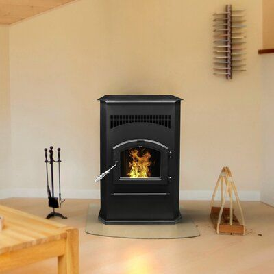 Pleasant Hearth 2200 Sq Ft Freestanding Pellets Stove With Blower In 2021 Pellet Stove Best Pellet Stove Prefab Fireplace