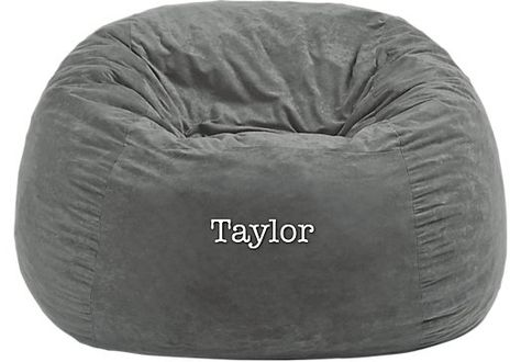 Shop for a Personalized Burlington Gray Medium Bean Bag at Rooms To Go Kids. Find  that will look great in your home and complement the rest of your furniture.
