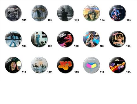 Classic Rock Bands (F) Pins Buttons (1.25 inch / 32mm)