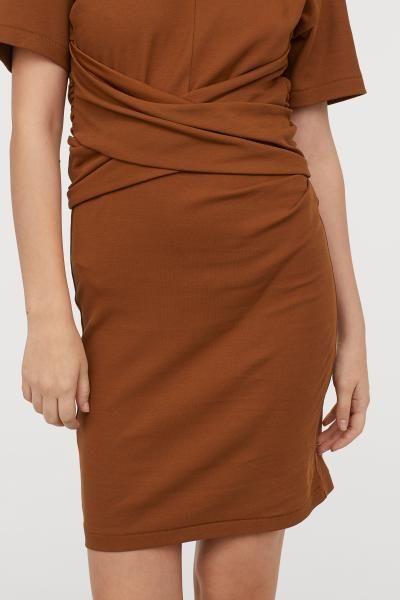 40aebd7bc4de T-shirt Dress - Ocher - Ladies